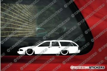 2x LOW Chevrolet Caprice station wagon ( 1991-1996 ) Lowered outline stickers